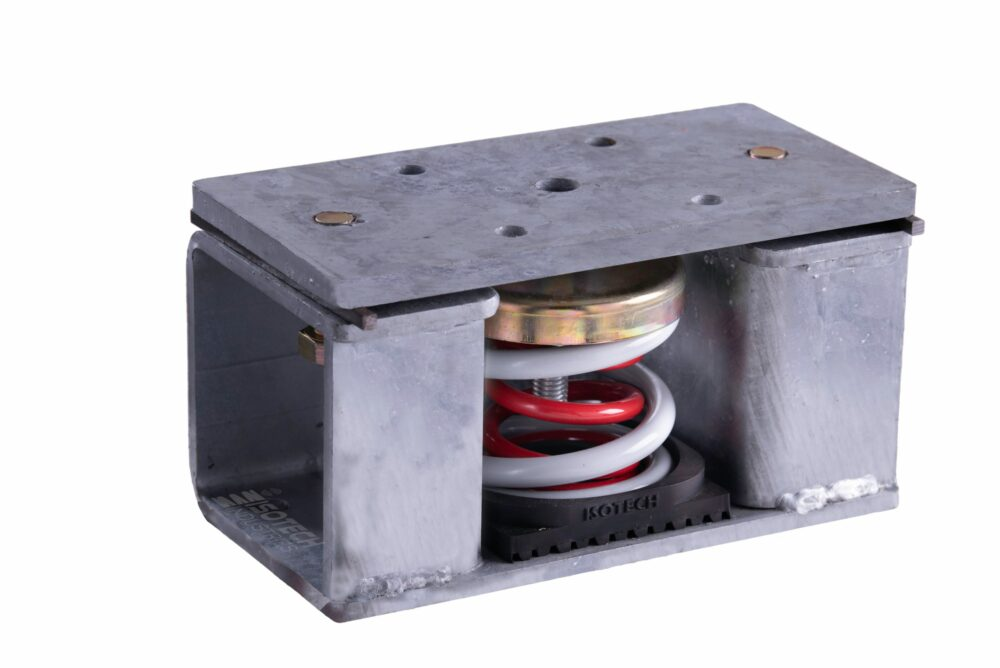 Seismically Rated Isolator- Attachment To Steel Structure