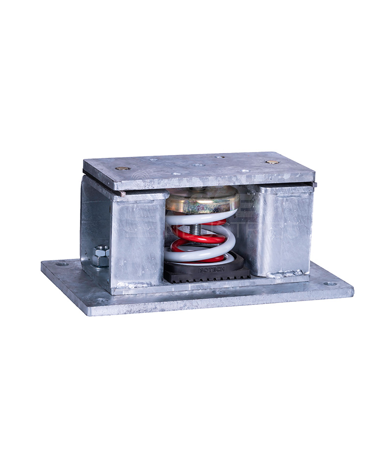 Seismically Rated Isolator- Attachment To Concrete Structure